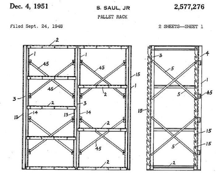 История стеллажей: первые патенты