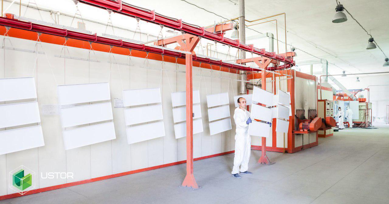 Процесс производства стеллажей
