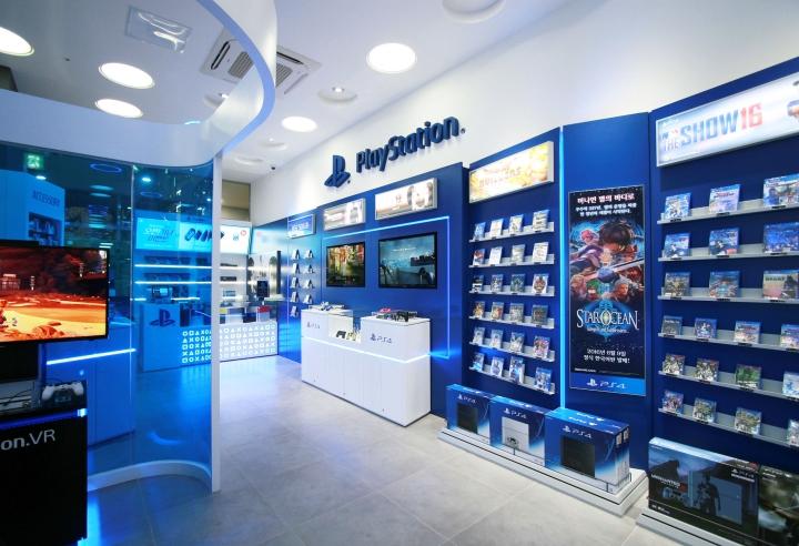 Дизайн оборудования для магазина Sony PlayStation