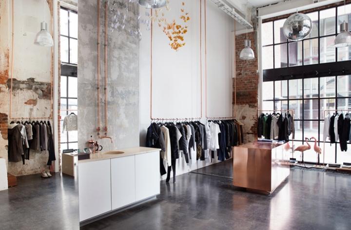 Магазин Mardou & Dean в Норвегии. Стиль лофт