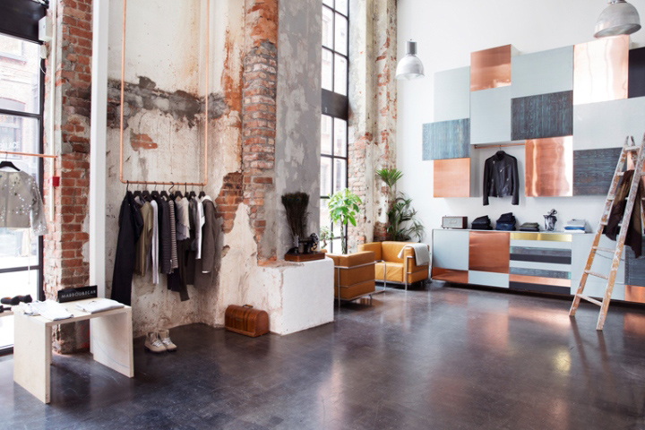 Пример магазина в стиле лофт. Mardou & Dean
