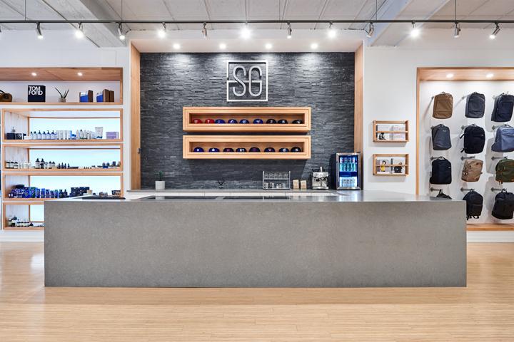 Дизайн магазина одежды Stomping Ground в экостиле